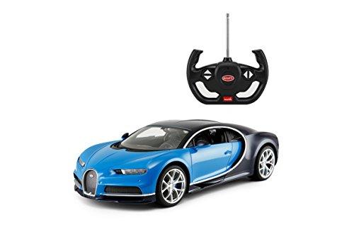 Rastar R/C Car 1:14 Scale Bugatti Chiron   Licensed Radio Remote Control 1/14 RTR Super Sports Car Model Blue
